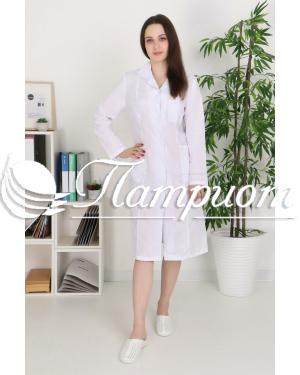 Халат медицинский женский «Модельный» ткань ТИСИ Модель 8